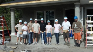 Dimmitt Automotive Group associates working on a home for our Community Values Day project with Habitat for Humanity in Pinellas County
